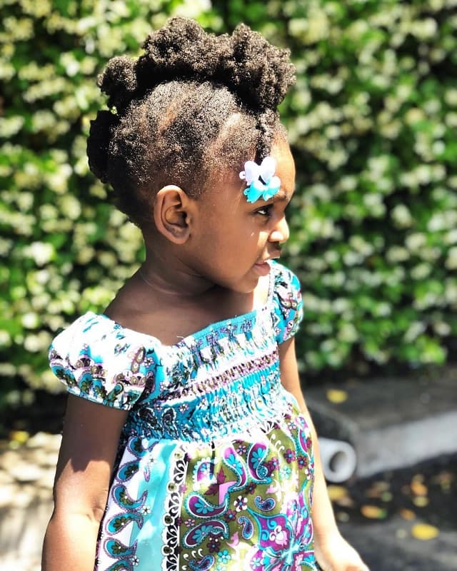 afro hair mohawk for little girls