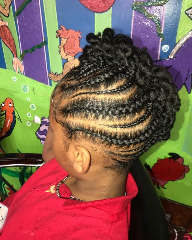 braided mohawk for little girls
