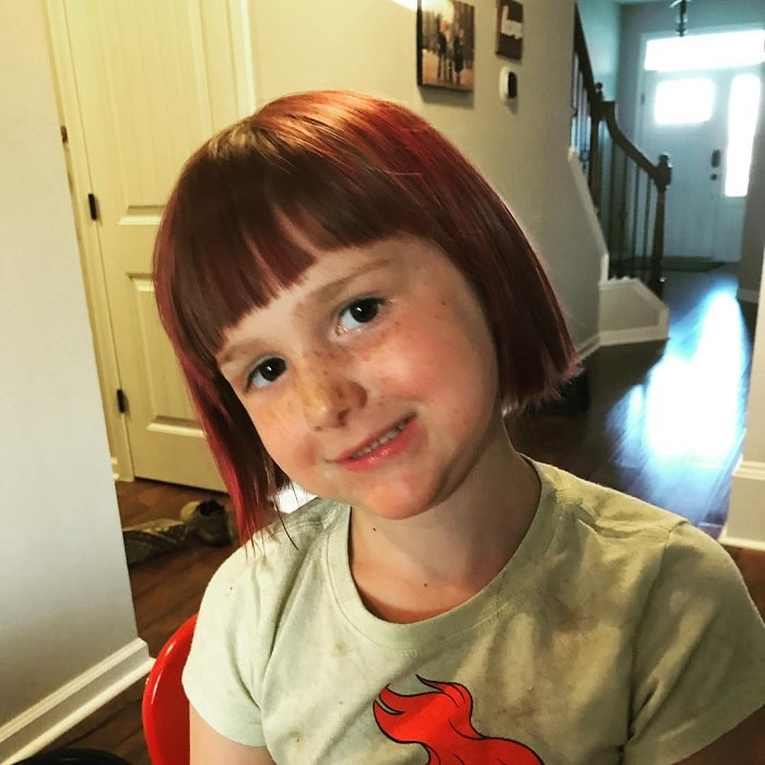 short haircuts for little girls with bangs