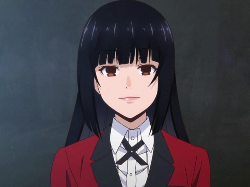 Yumeko Jabami's Long Black Hair