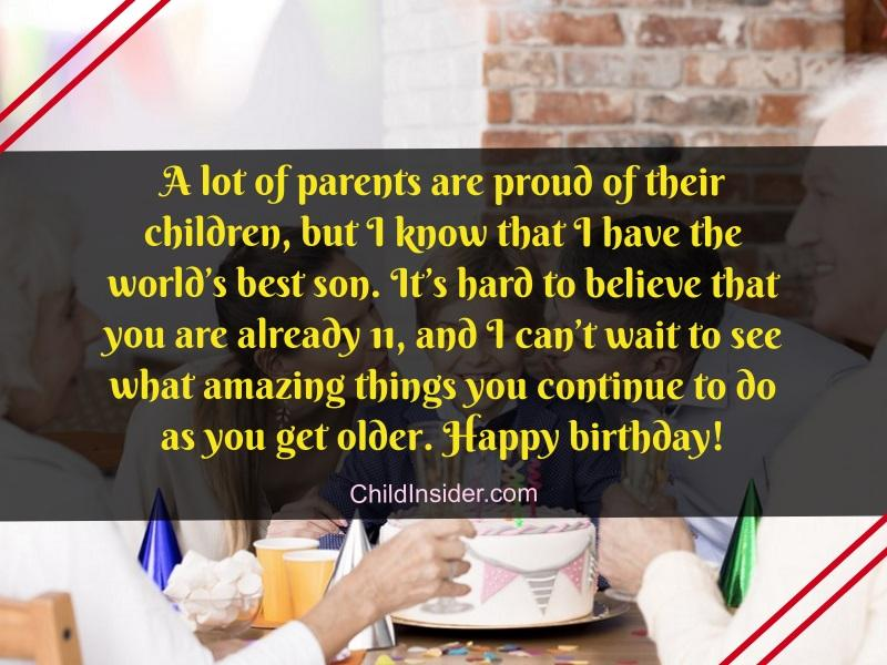 happy 11th birthday son messages