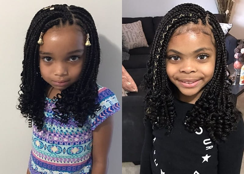 little girl with box braids