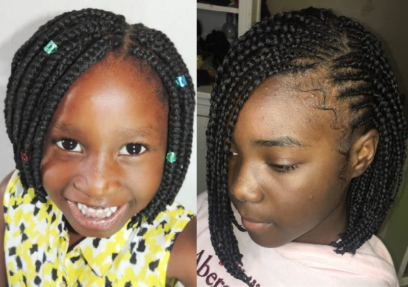 box braided bob for little girls