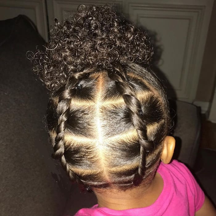 curly hairstyles for little black girls