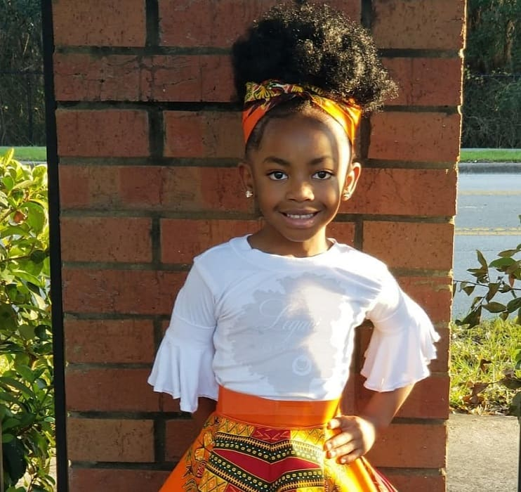 little black girl's curly updos with bandana