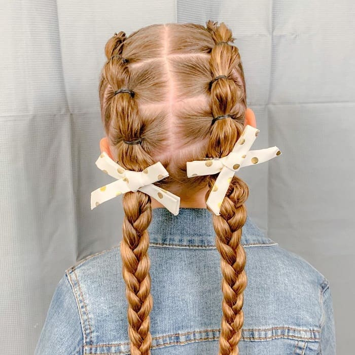 braid hairstyle for school girl