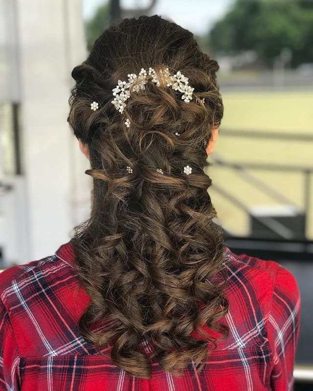girls wedding hairstyles