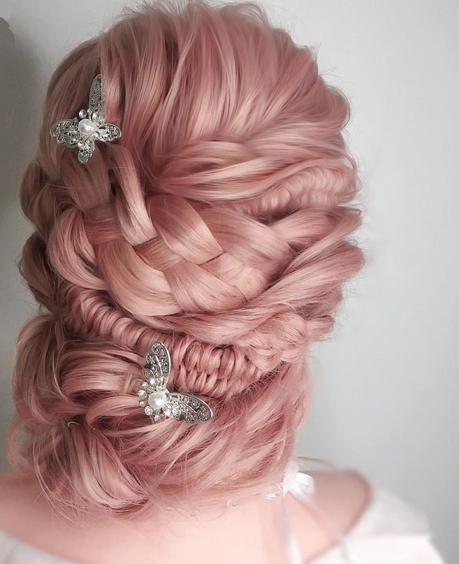 Twisted Fishtail Wedding Updo for Girls