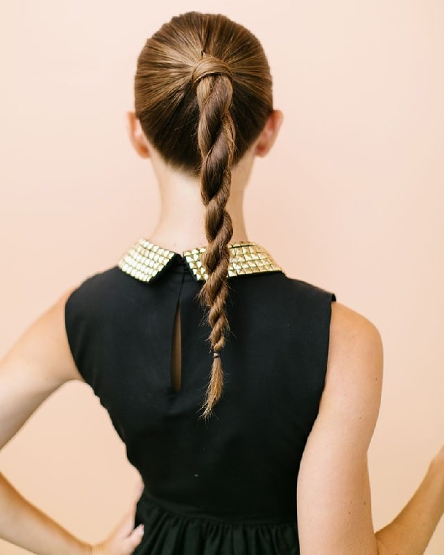 girl with twisted ponytail