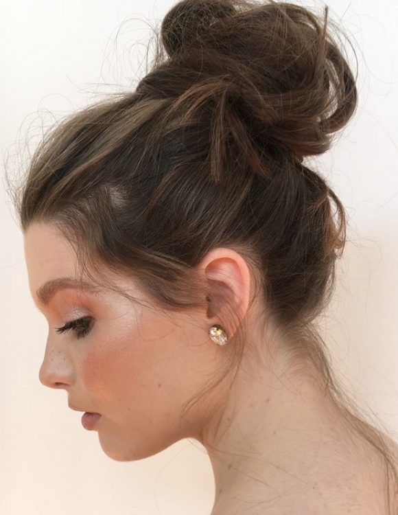 messy high bun for american girls