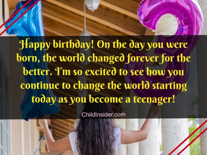 13th birthday wishes for girl