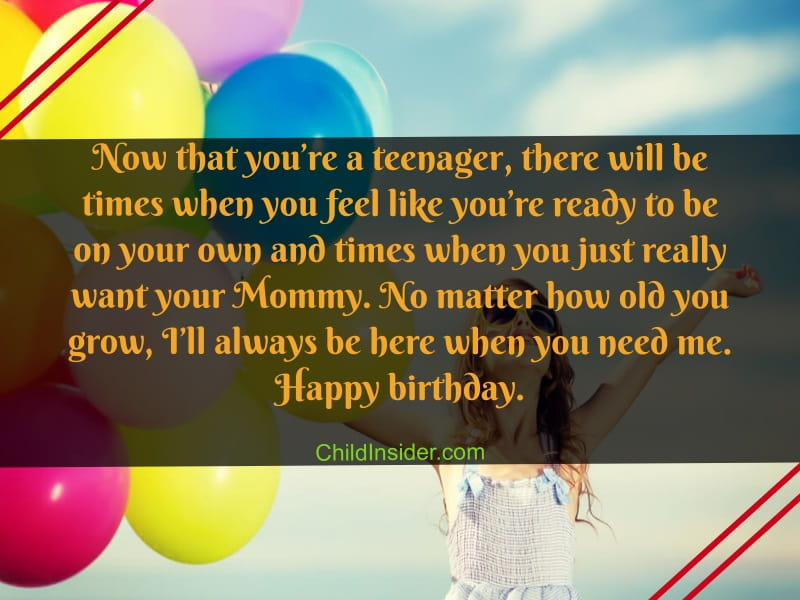 13th birthday quotes for girl