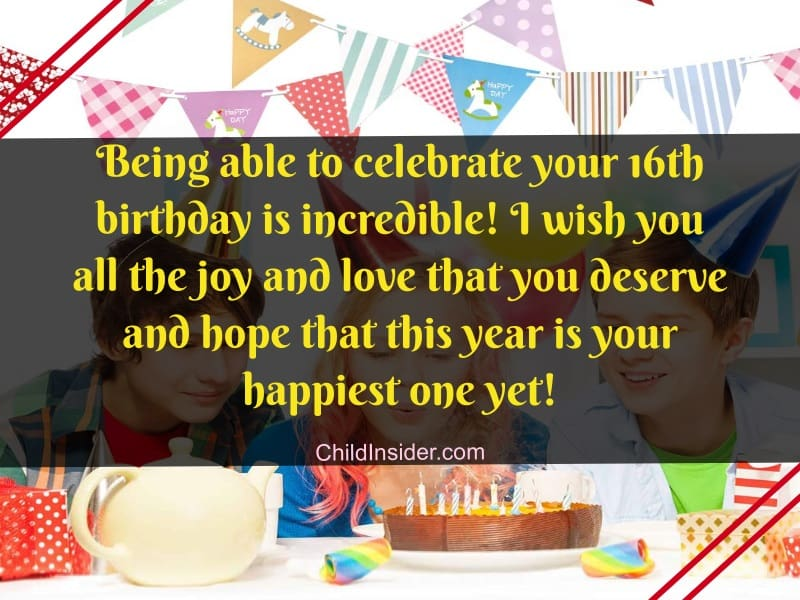 16th birthday wishes for girl