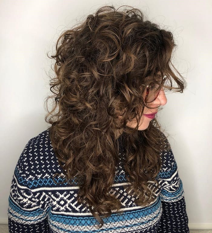 Long Layered Curly Hairstyle for Girls