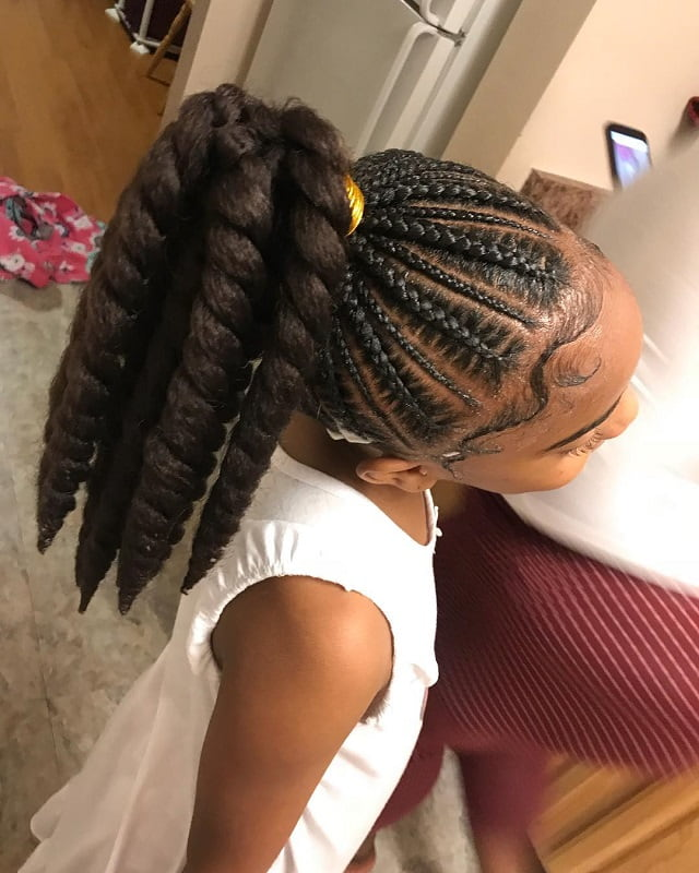 twisted ponytail for little black girls
