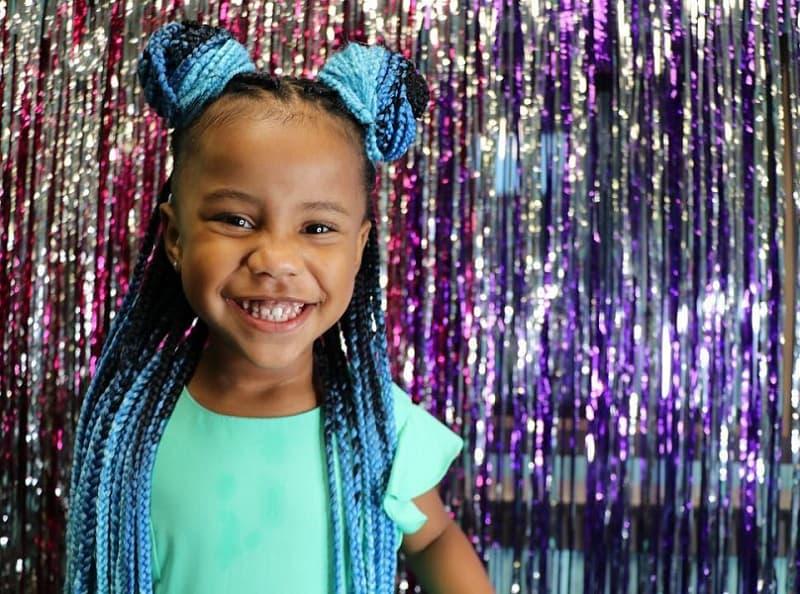 cute box braid hairstyles for little girls