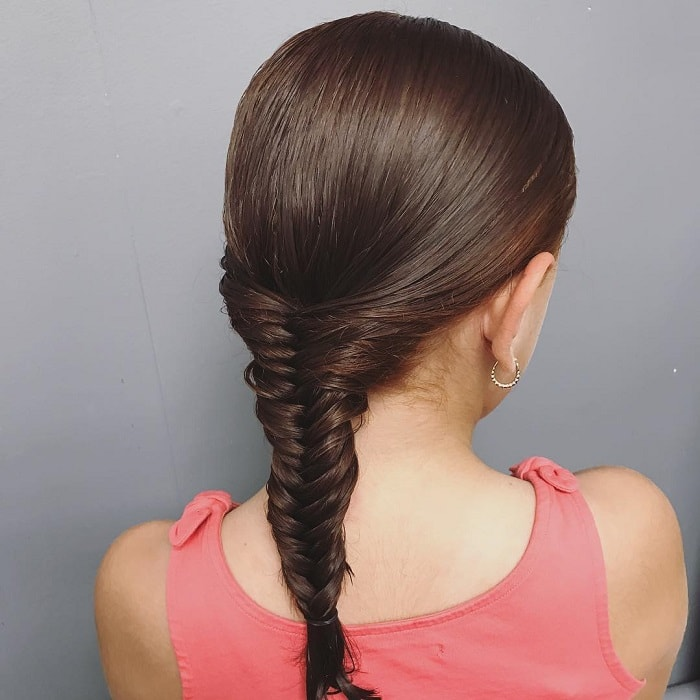 fishtail braided hairstyles for little girl