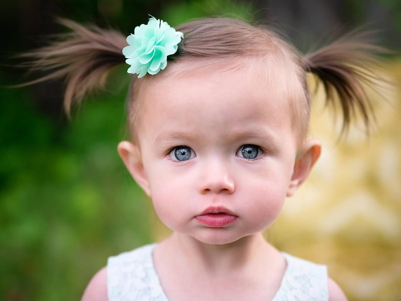 little girl pigtails with fine hair