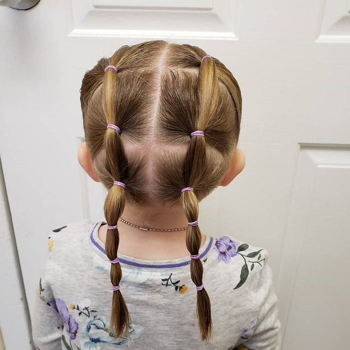 little girl pigtails for fine hair