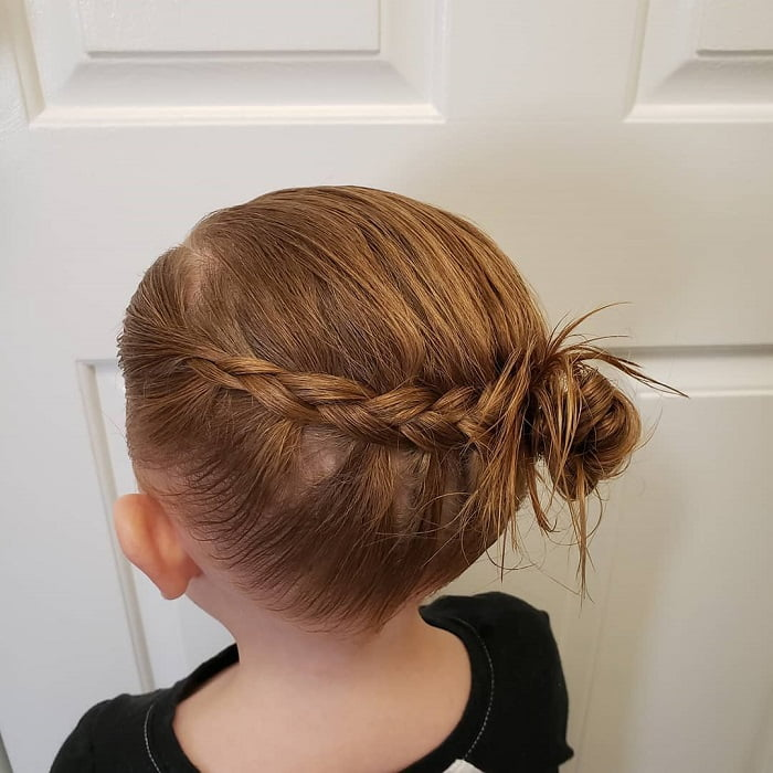 little girl bun hairstyle for fine hair