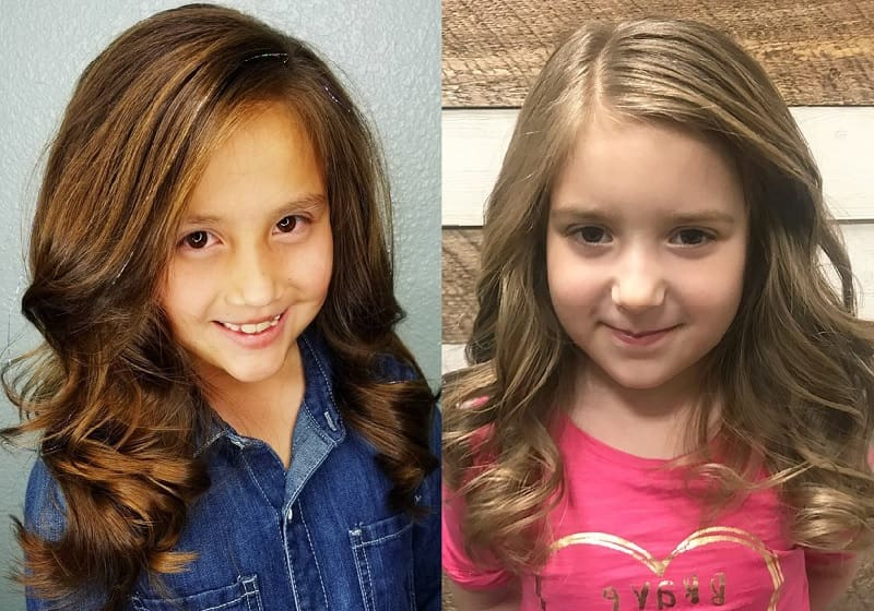 long hair with side part for little girls