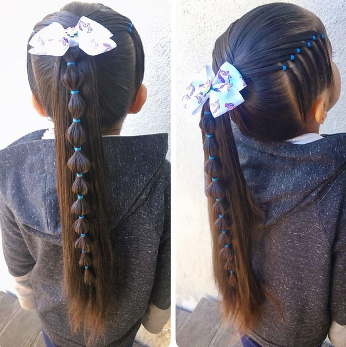 25 Charming Ponytail Hairstyles For Little Girls To Rock