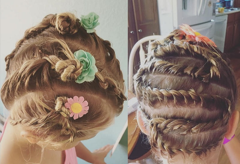 braided updo for little girl