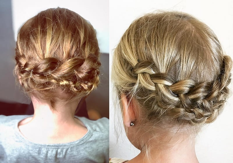Little Girl with Braided Crown Updo