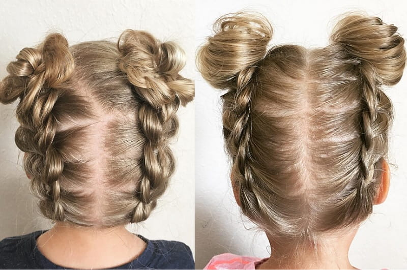 french braided updo for little girls