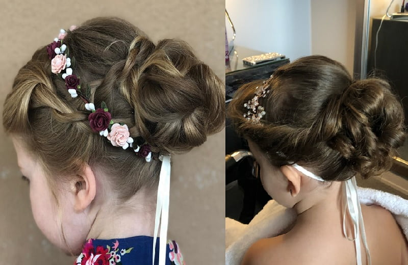 little girl braided updo for little girls