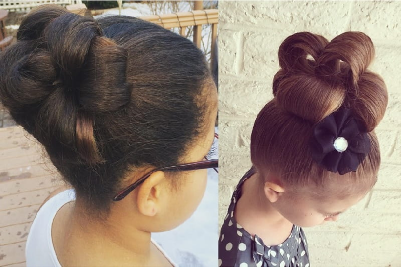 knotted updo for little girl