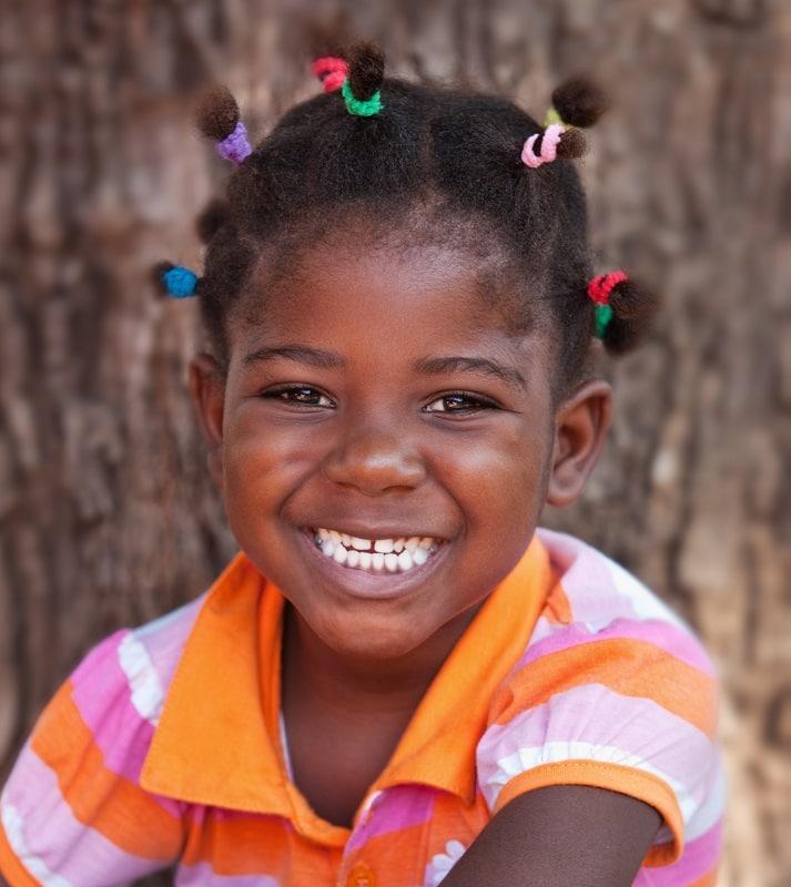 multiple ponytails for afro little girls