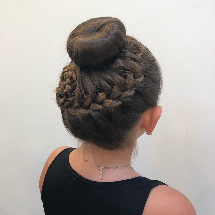 sleek updo for little girls