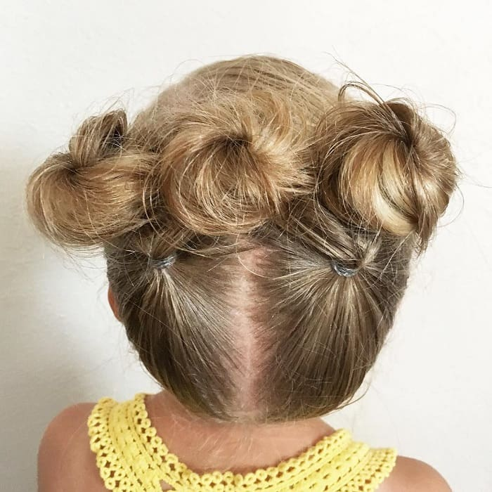 little girl updo for short hair