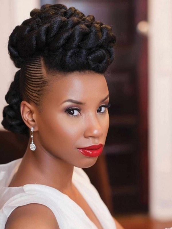 wedding updo for black girls