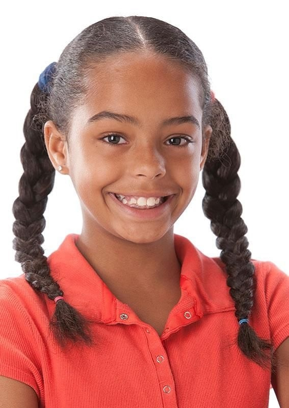 braided pigtails for 10 years old black girl