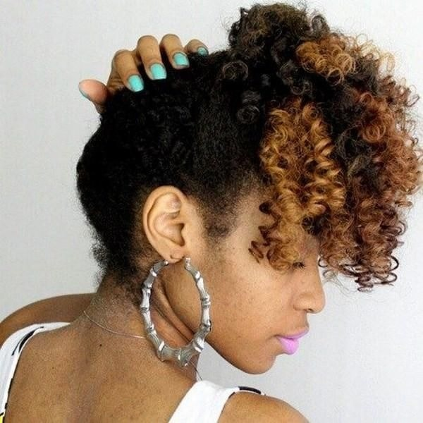 curly high ponytail for black girls