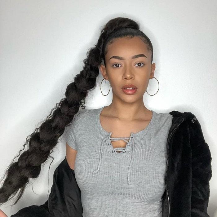 braided ponytail for black girls