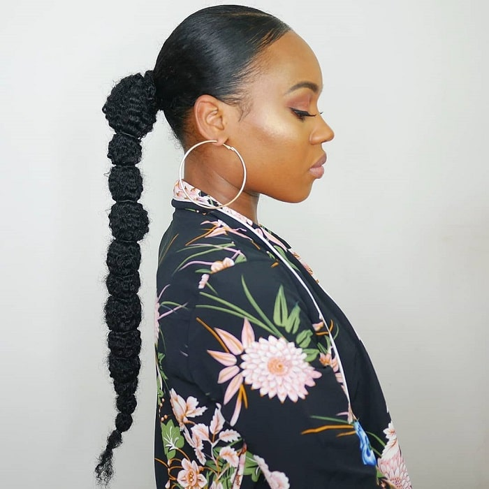 15 Adorable Ponytail Hairstyles For Black Girls (2021 Trends