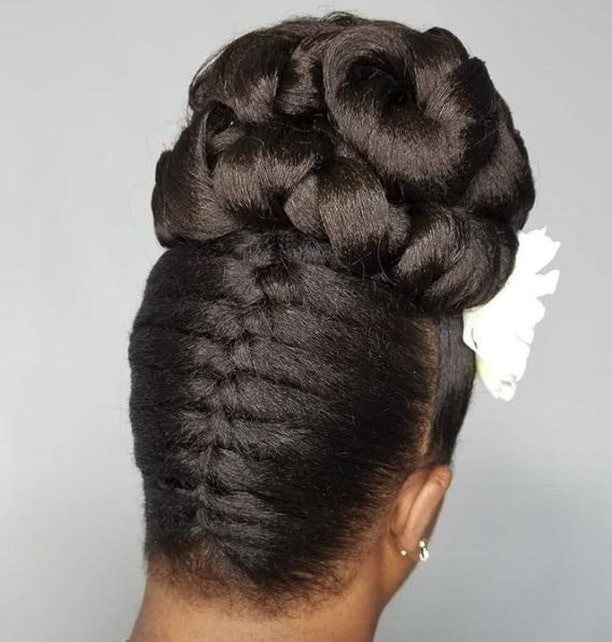 pleated bun for black girls
