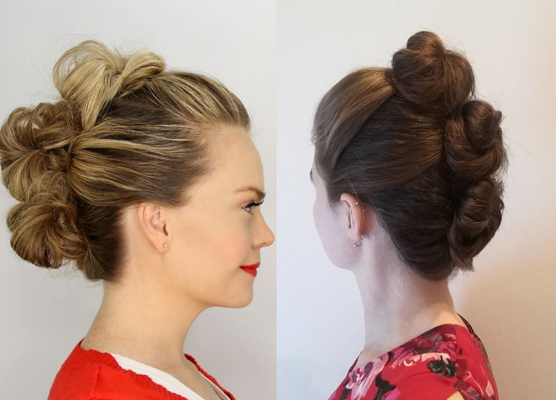 3 twisted bun hairstyles for girls