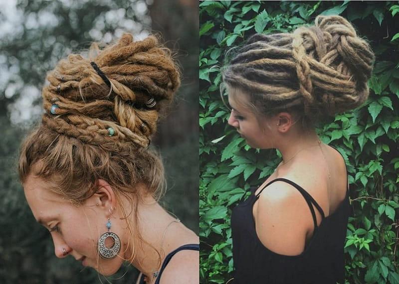 girls bun hairstyles
