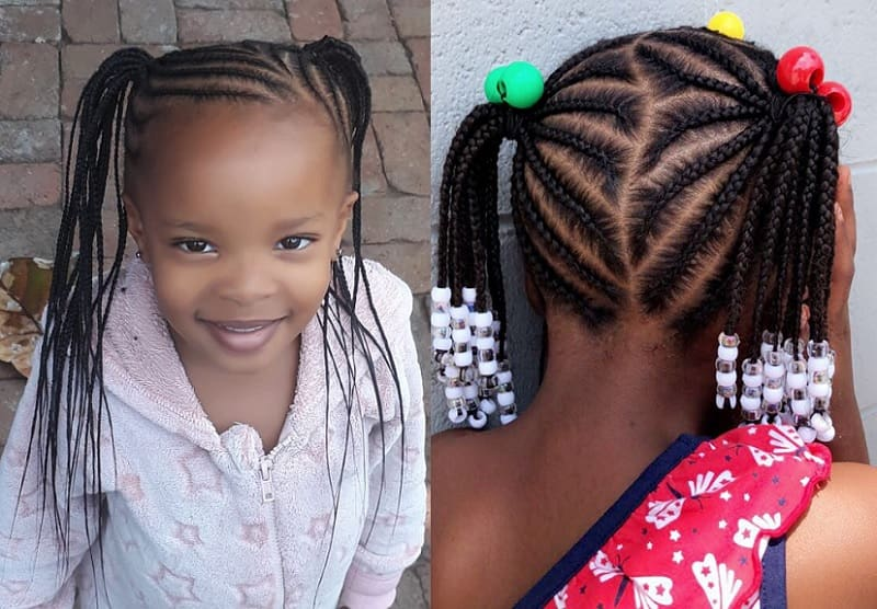 little girl cornrow hairstyle