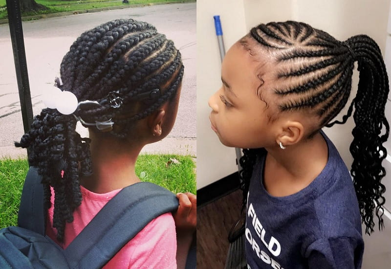 21 Sweet Cornrow Hairstyles That Little Girls Love