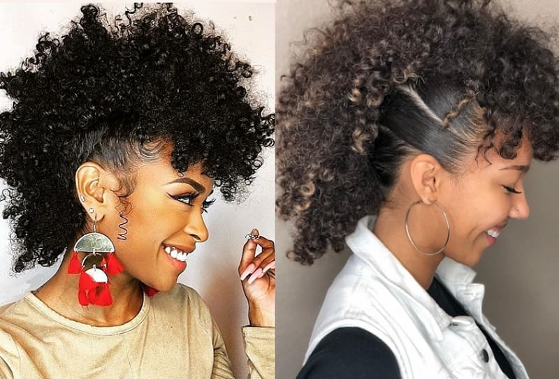 curly mohawk hairstyles for girls