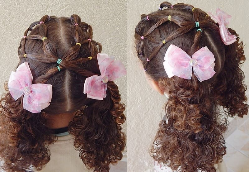 curly pigtails for little girls