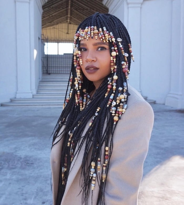 black girls braided hairstyles with beads