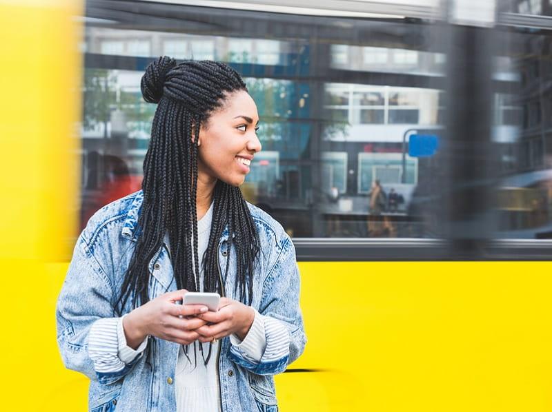 braided half updo for black girls