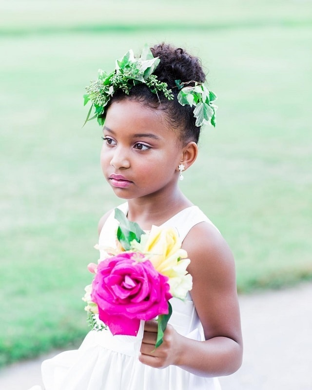 messy bun styles for 10 years old black girls