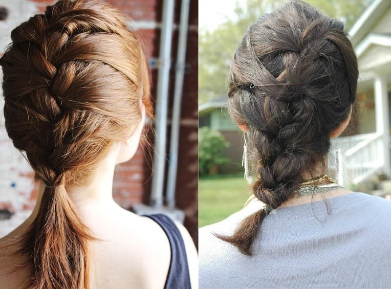 mid length french braids for girls